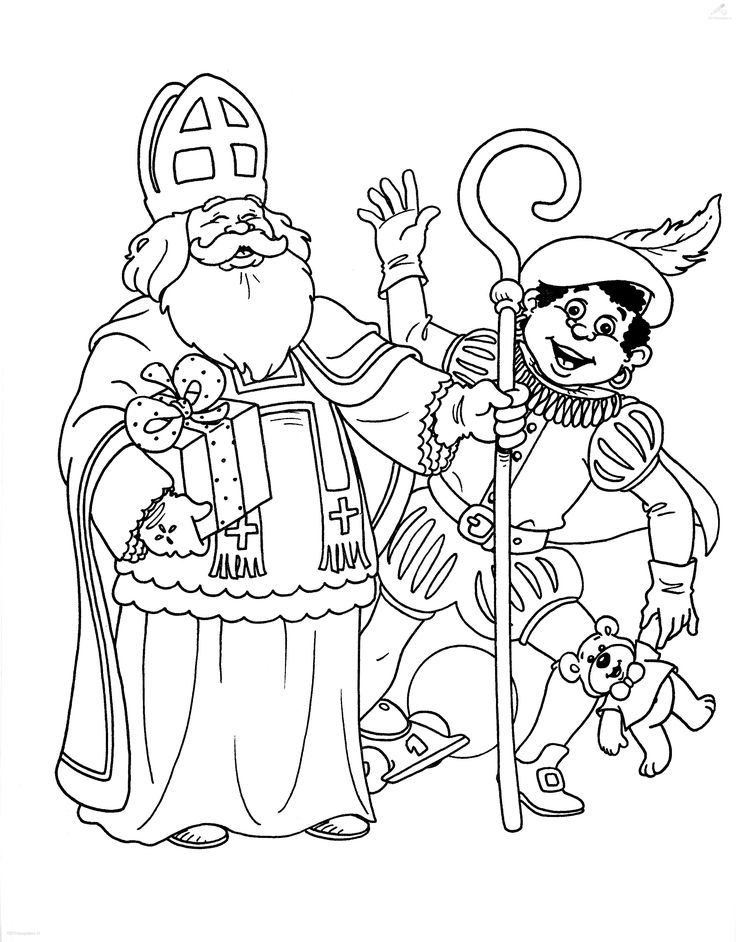 sinterklaas coloring pages - photo#8