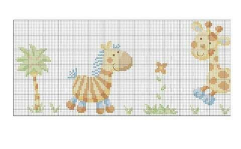 Bordo lenzuolino ZebraGiraffaElefante 1
