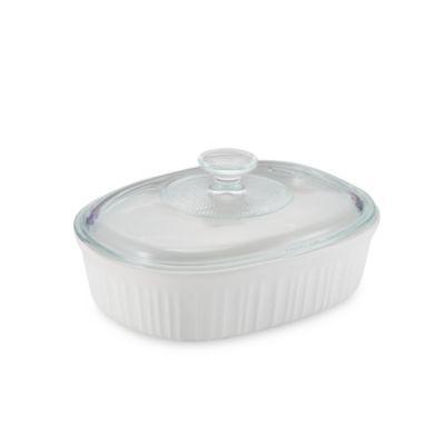French White® 1 1/2-Quart Covered Oval Dish - BedBathandBeyond.com