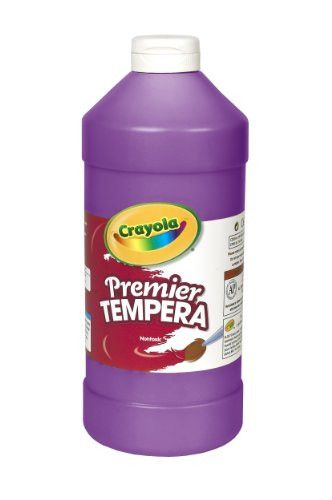 Crayola Tempera Paint 32-Ounce Plastic Squeeze Bottle, Violet Purple