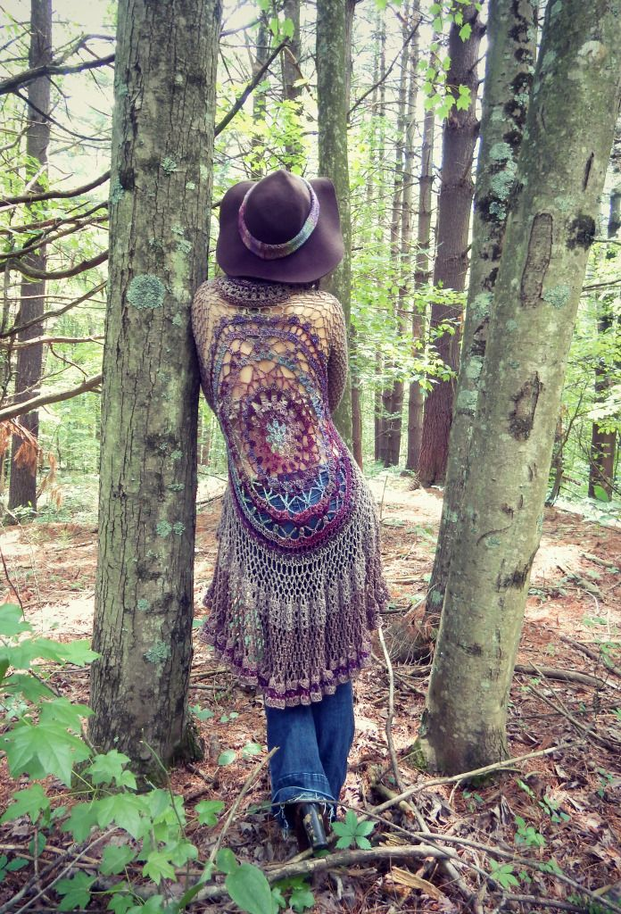 Crochet Mandala Duster Jacket