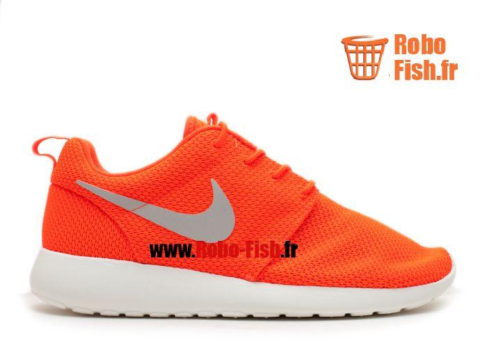 Nike Rosherun - Chaussure Nike Running Pas Cher Pour Homme Roux/Blanc 511881-800