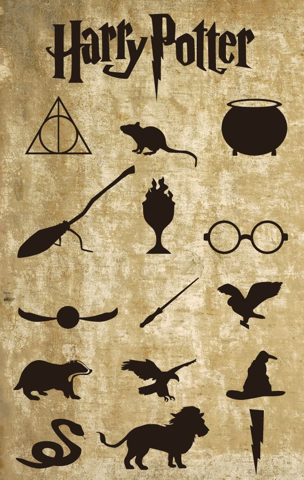 Harry Potter Vector Icon Set - Robert Palmer Studios