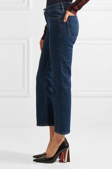 Victoria, Victoria Beckham - Mid-rise Flared Jeans - Dark denim - 28
