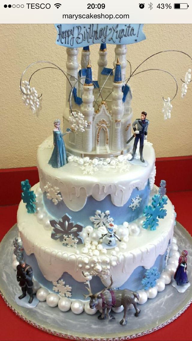 24 best Frozen Birthday Party images on Pinterest Birthday cakes
