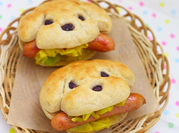 "Hot ""dogs"" for kids! How fun! hot_dog hotdog kids food fun_food"
