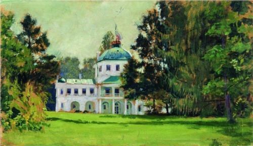 Manor in the park - Boris Kustodiev