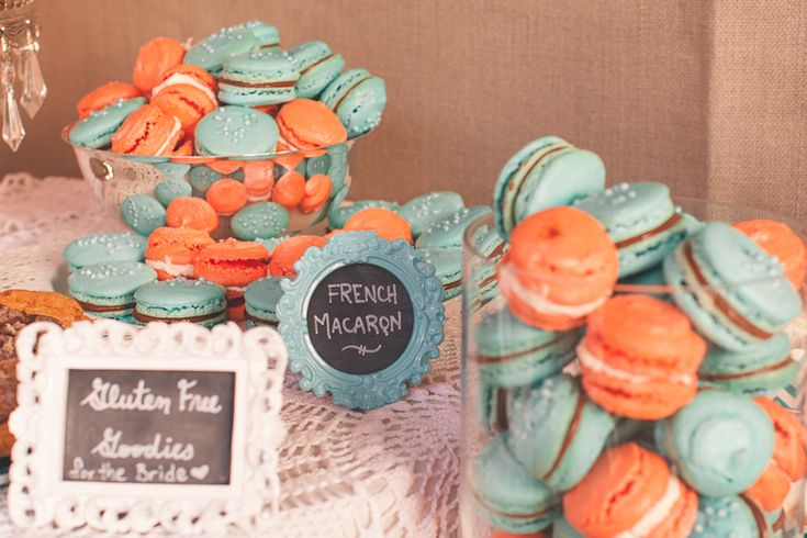 I made these delicious french macaron myself for our wedding day...filled with nutella and coconut buttercream Photo by Intuition Photography