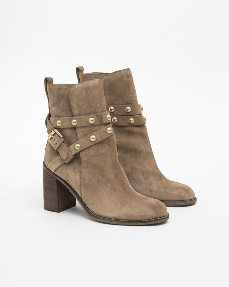 See by Chloe Janis Studded Suede High Heel Boot
