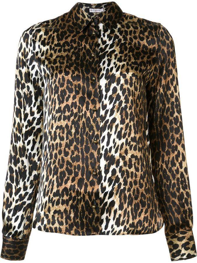 Emanuel Ungaro leopard print shirt