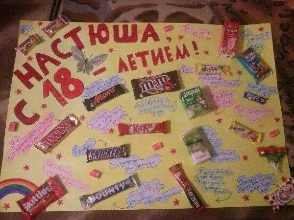 Открытки со сладостями подруге