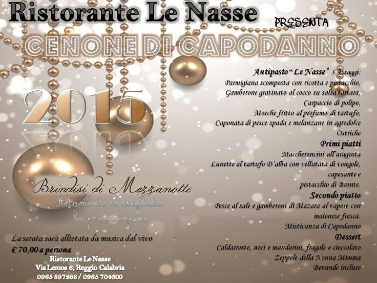 New Year's Eve @Le Nasse Menu