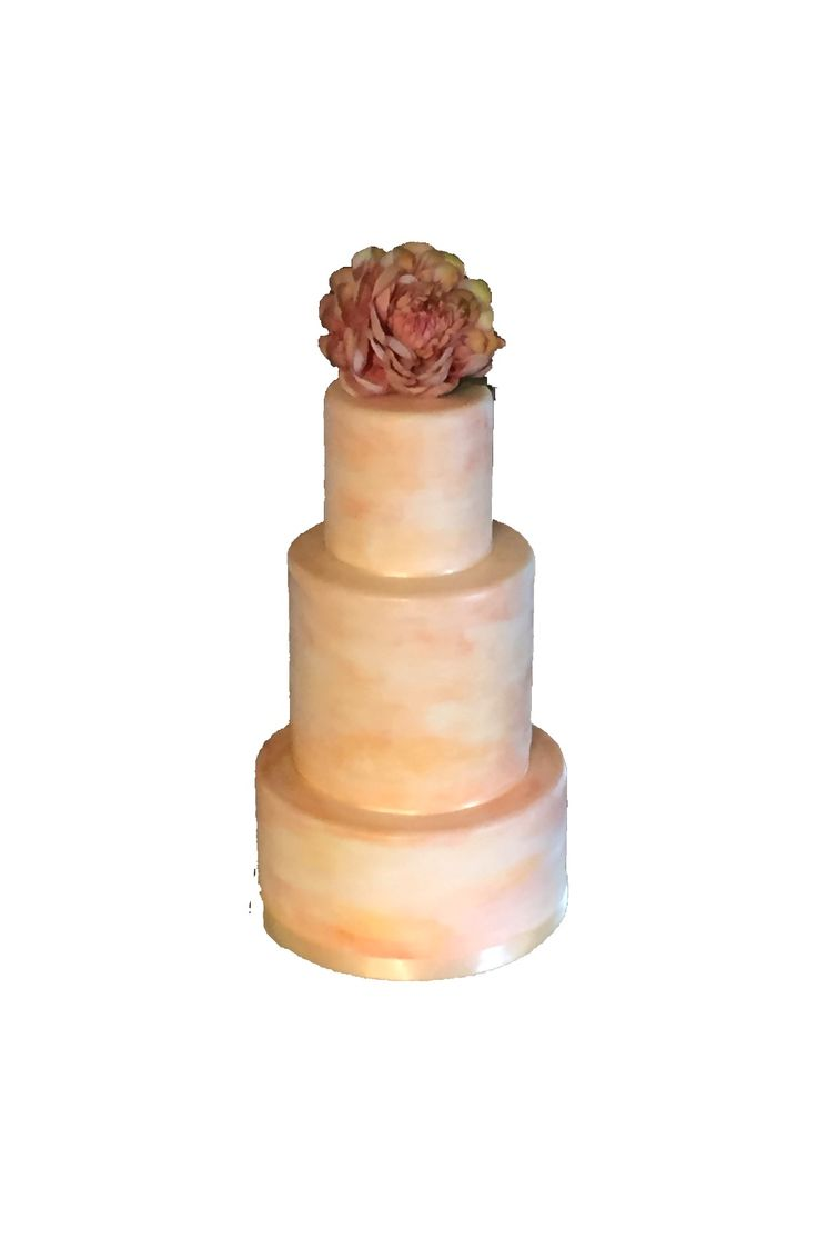 Weddingcake watercolor Peach