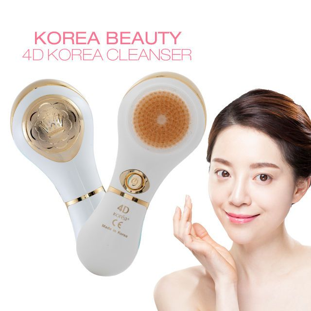 Korean Beauty 4D Auto facial brush D Type - Ivorygold Motion Cleanser Facial #KoreaBeauty