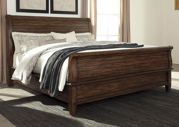 Master bedroom?? Chaddinfield Brown King Sleigh Bed by Signature Design by Ashley Furniture