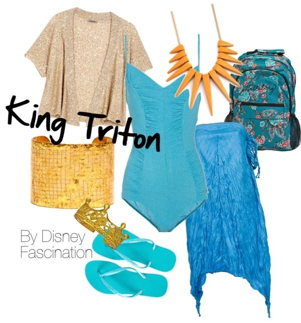 """King Triton- Beachwear"" by disneygurl-93 on Polyvore"