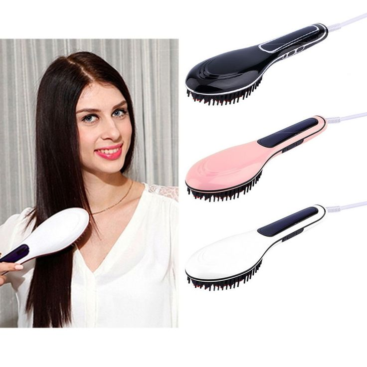 Details About Hot Electric Hair Straightener Comb Lcd Iron