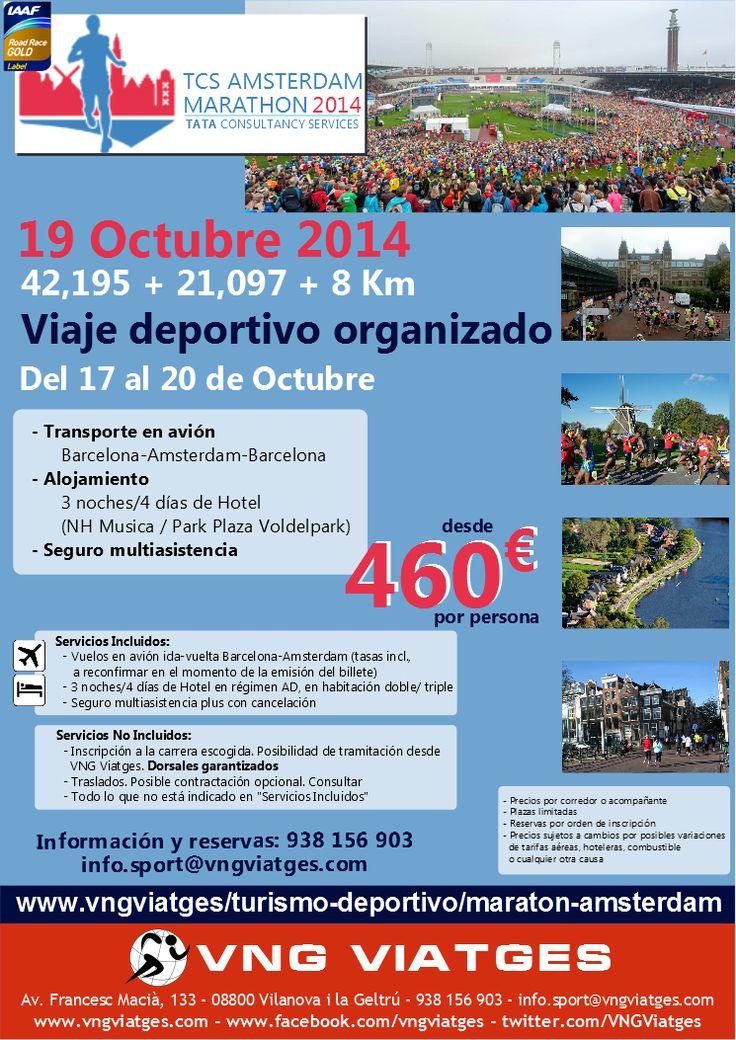Viaje deportivo organizado a la Maratón, Media Maratón y carrera de 8 Km de Asmterdam 2014 - VNG Viatges
