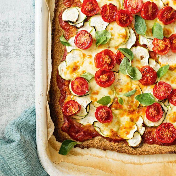 How to make Vegetarian Quinoa Pizza #vegetarian #quinoa #pizza