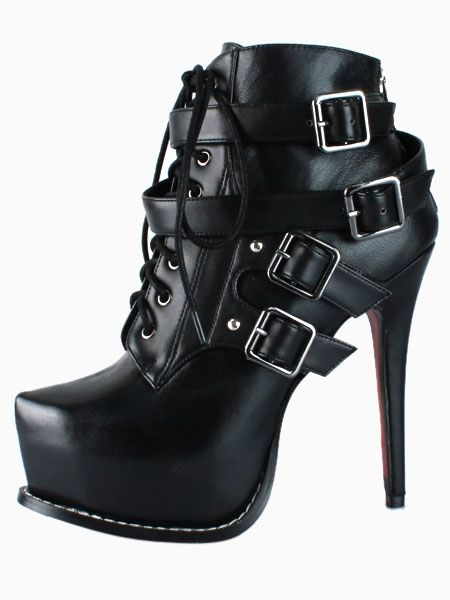 Lace Up Platform Heeled Ankle Boots Got