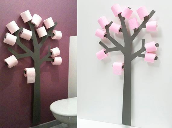 Un'idea simpatica (e in tema con la stagione) per rinnovare la vostra stanza da bagno?  Che ne dite di questo?