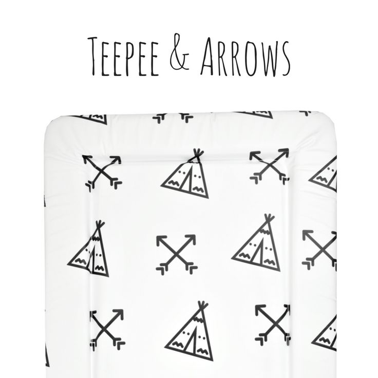 2018 Design Baby Changing Mat featuring adorable illustrations Teepee & Arrows Children Baby Toddler Modern Contemporary Design Nursery Inspiration Cute Style Diaper Nappy Changing Unit Station