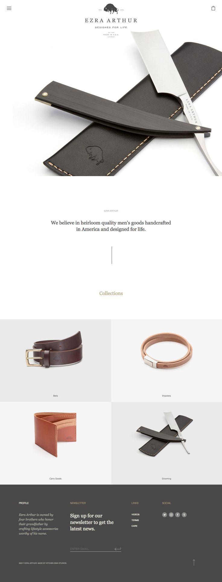Ezra Arthur (More web design inspiration at topdesigninspiration.com) #design #web #webdesign #sitedesign #responsive #ux #ui