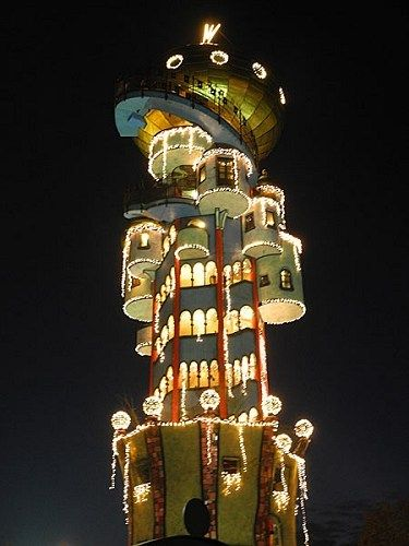 The Hundertwasser tower, designed by Austrian Friedensreich Hundertwasser 5