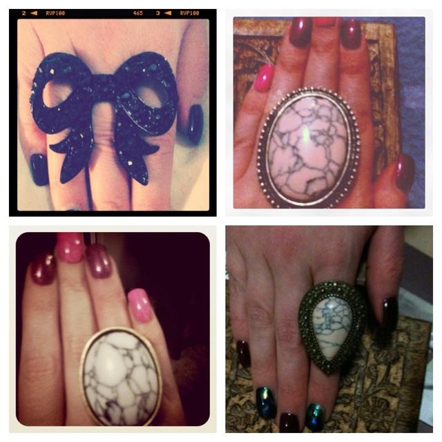 4 of my Samantha Wills rings