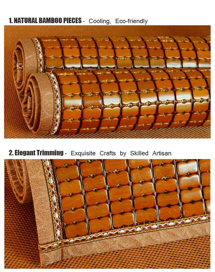 pleine taille dormir au frais bambou lit pad de couchage tapis de de la glace with tapis bambou. Black Bedroom Furniture Sets. Home Design Ideas