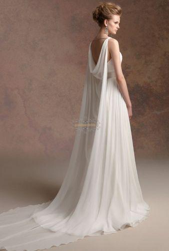 Chiffon Mantel Ivory Brautkleider Kleider Gr: 36 38 40 42 ++++++ | eBay
