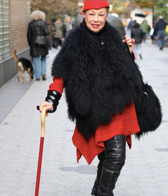 Hearing aids? Yes! A cane? Cool! Old lady shoes? Awesome.