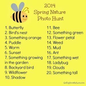 Spring Nature Photo Hunt