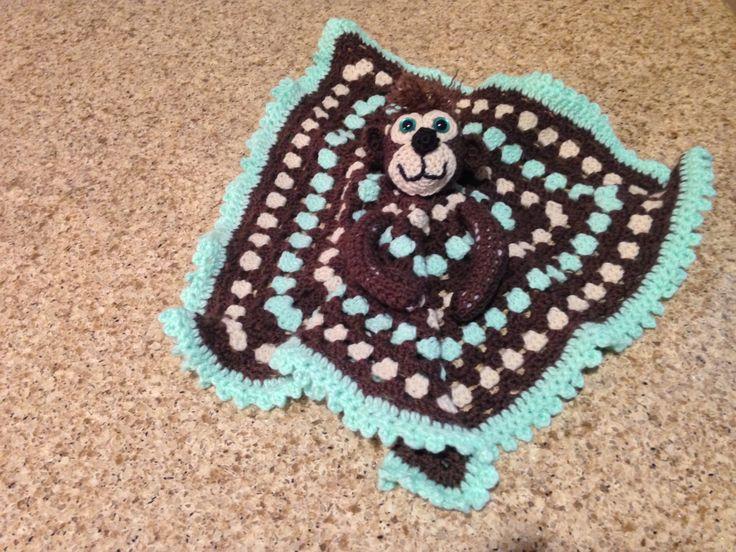 Monkey lovey blanket