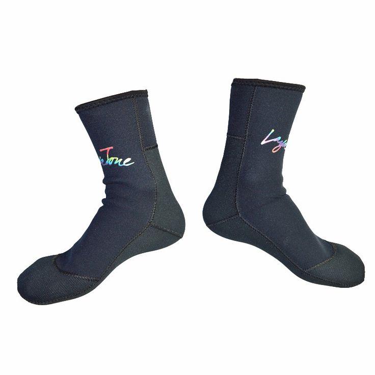 Diving socks Rushed Adult Size Monofin Aletas Buceo Equipamento De Mergulho Brand Layatone 3mm Neoprene Scuba Diving Socks Men