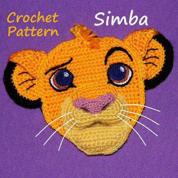 Crochet Pattern Applique Cute Little Lion Patterns