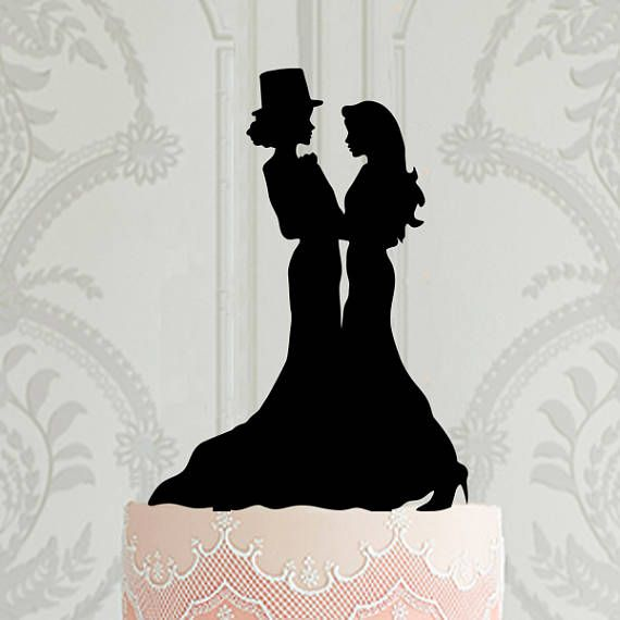 Lesbian Wedding Cake Topper Mrs Mrs same sex wedding cake decor ideas gay wedding female marriage custom laser cut cake topper