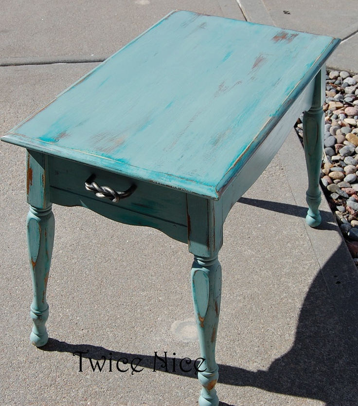 Twice Nice Beachy Side Table Twice Nice Furniture Restyles Pinterest Nice Tables And Side
