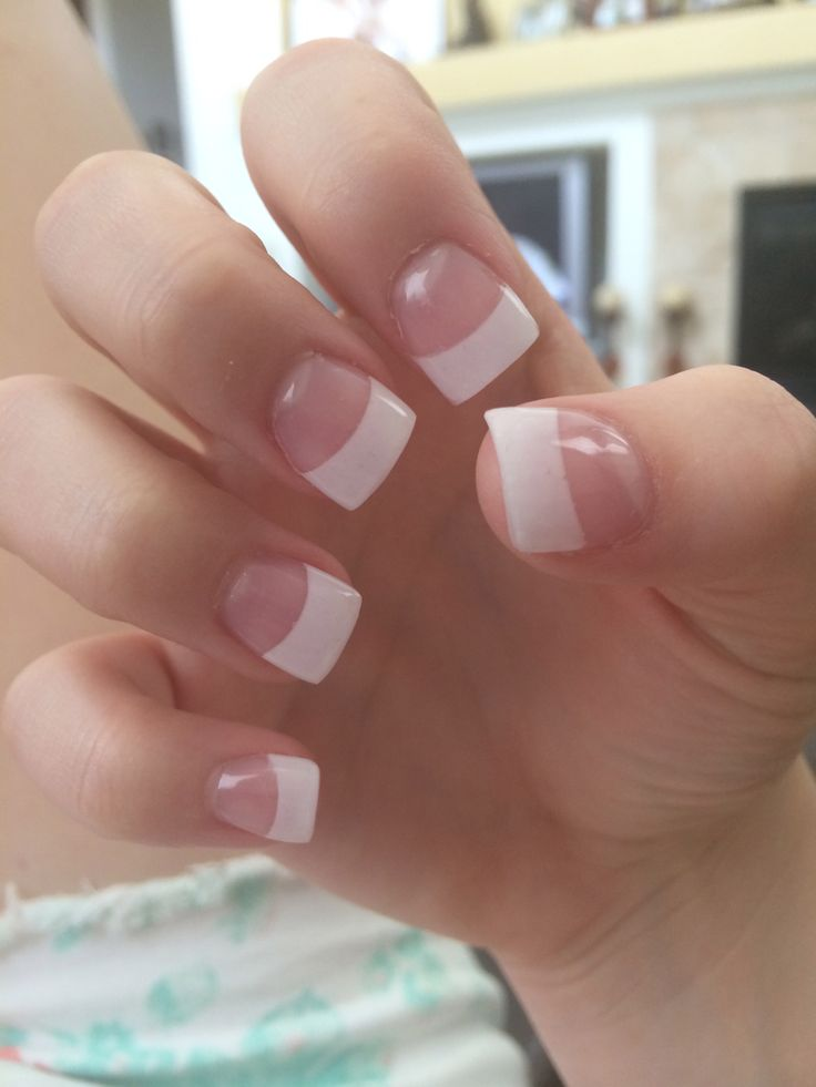 French tip acrylic nails!!