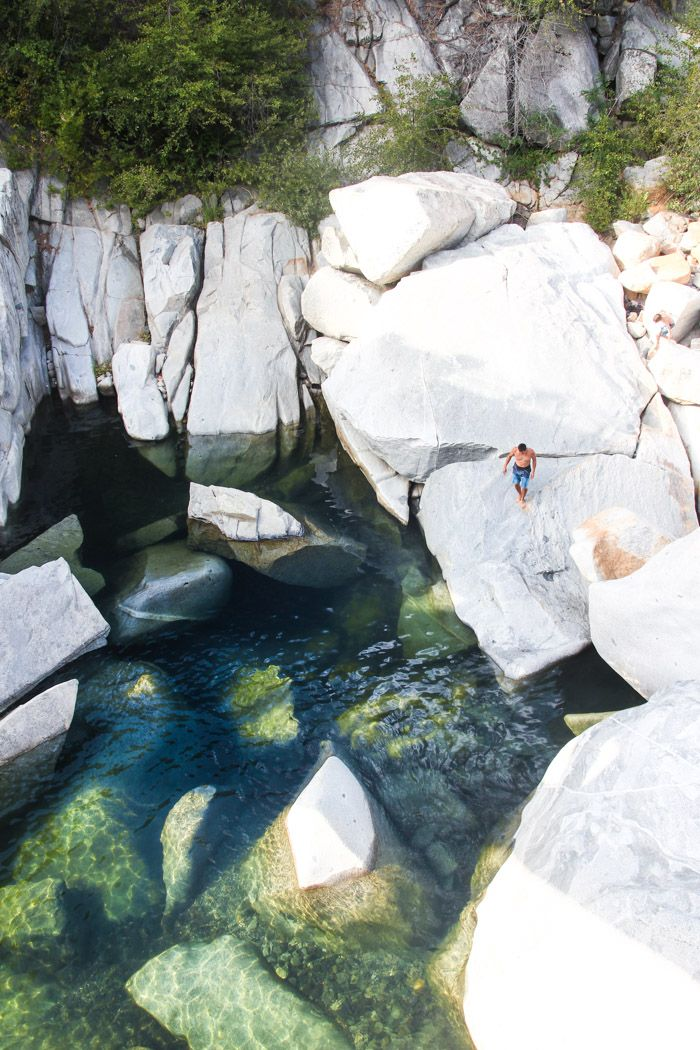"""Up near Nevada City, where Route 49 (the """"Mother Lode-"""" or """"Gold Country Highway"""") crosses South Yuba River, a series of swimming holes form..."""