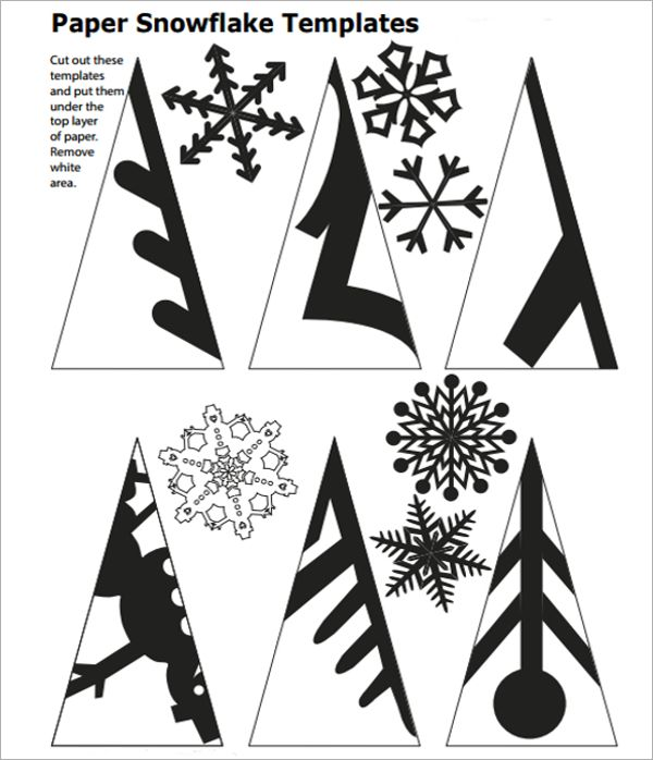 snowflake template to cut out snowflakes pinte