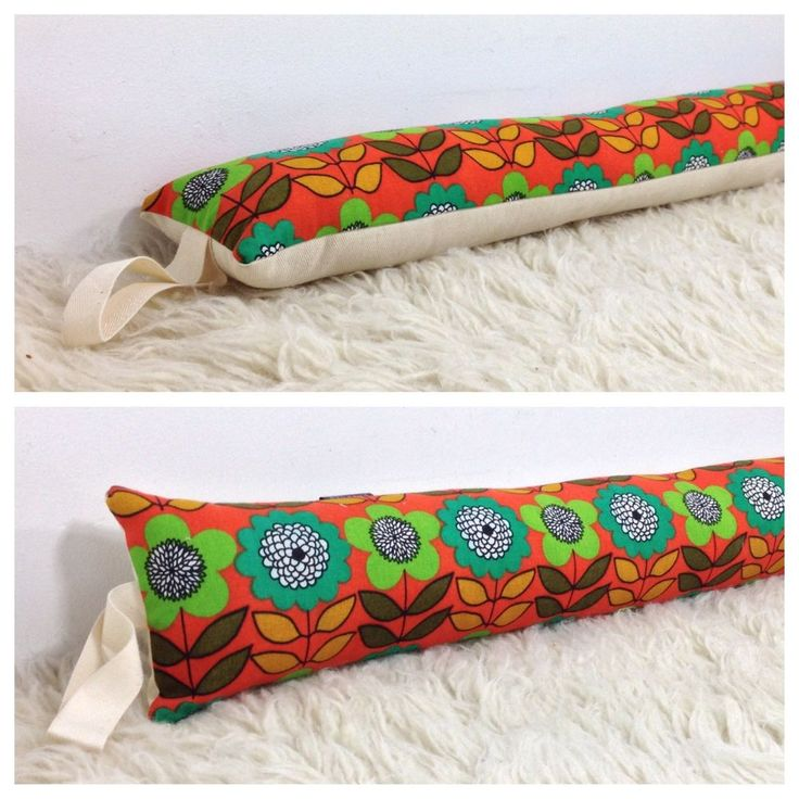 Draught Excluder Handmade From Vintage 70s Flower Power Fabric £14