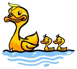 duck cartoon drawing - how to