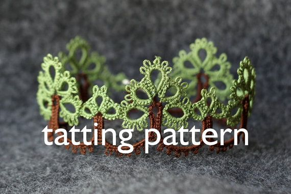 Note: this listing is only for the digital file containing the tatting pattern Trees, not the actual tatted item or printed pattern.  You can use this pattern to create beautiful two colors edgings or bracelets. This pattern assumes some knowledge about shuttle tatting - if you know how to make rings, chains, picots and how to join the elements, this pattern is for you!  The 2-page file contains: - list of supplies - written instruction in English - a diagram with stitch count  Important…