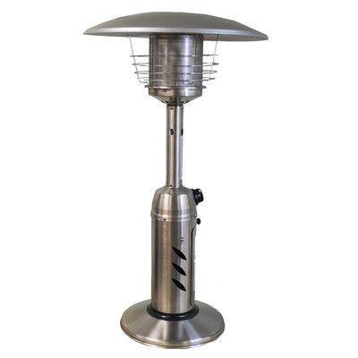 SUNHEAT Round 11,000 BTU Propane Tabletop Patio Heater Finish: Stainless Steel