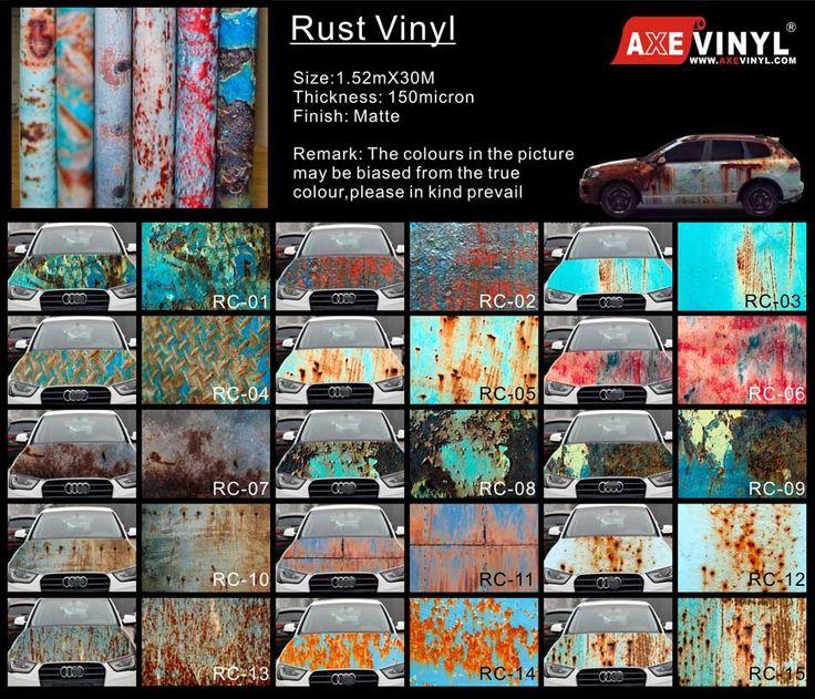 Axevinyl Rust Vinyl Rusty Camouflage Vinyl Vinyl Wrap
