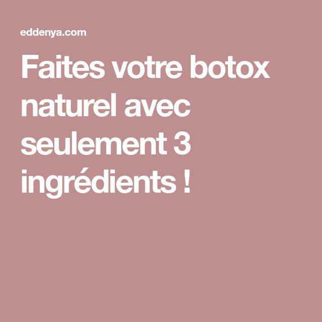 Faites votre botox naturel avec seulement 3 ingrédients !