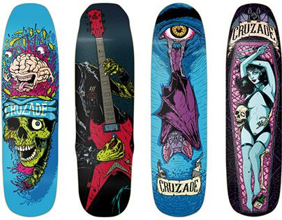 """Check out new work on my @Behance portfolio: """"Cruzade Skateboards 2017 Collection"""" http://be.net/gallery/51398259/Cruzade-Skateboards-2017-Collection"""