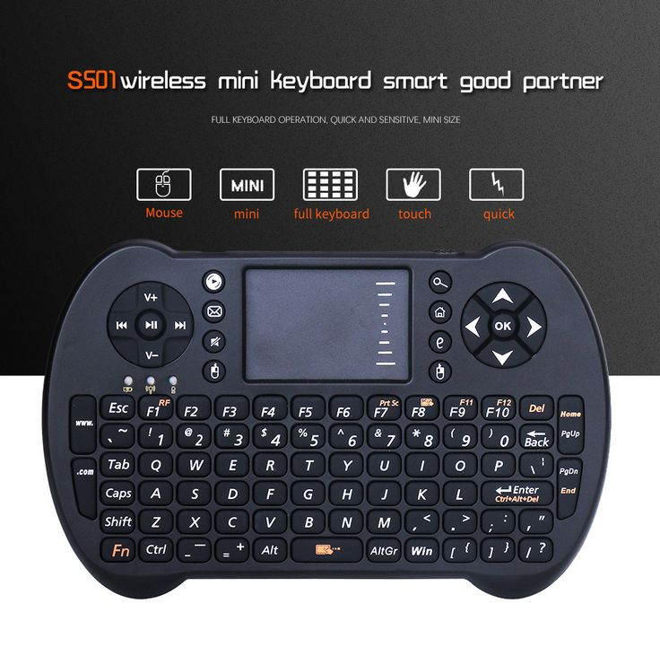 New S501 Super Mini 2.4GHz Wireless QWERTY Portable Keyboard Air Mouse Combo Black Color for Smartphone Pad Laptop TVbox