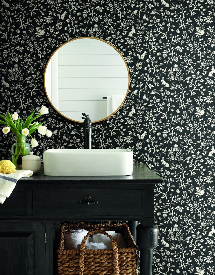 Magnolia Home Fox and Hare Black and White Textured